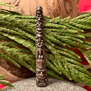 Vintage Tongass Totem Pole Brooch- Sterling
